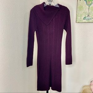 Calvin Klein purple chunky sweater dress medium